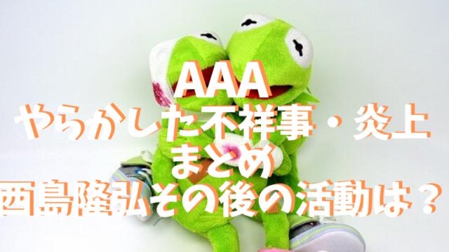 AAAのやらかした不祥事・炎上まとめと活動休止で西島隆弘その後の活動は?
