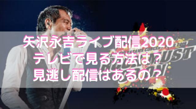矢沢永吉ライブ配信2020をテレビで見る方法は?見逃し配信はあるの?